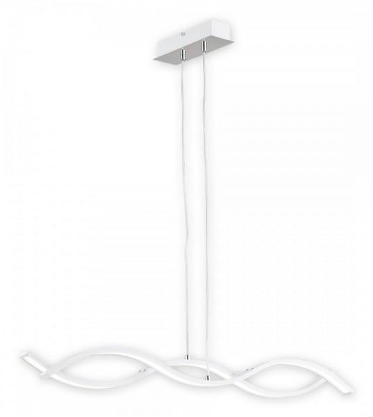 Pendelleuchte Esstisch weiß/chrom modern 2 flammig LED