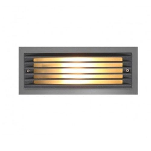 ASSAM Außeneinbauleuchte modern Aluminium/Glas anthrazit Einbaustrahler Außenlampe E27 18W