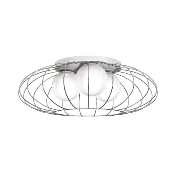 Deckenleuchte KRONOS chrom aus Metall/Glas rund