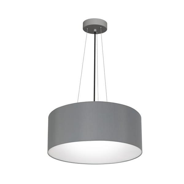 Pendelleuchte BARI GREY grau aus Metall/Stoff 70cm