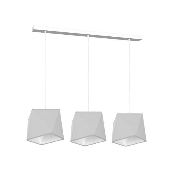 Pendelleuchte Grau/Weiß FRANK 60W E27 3-flammig