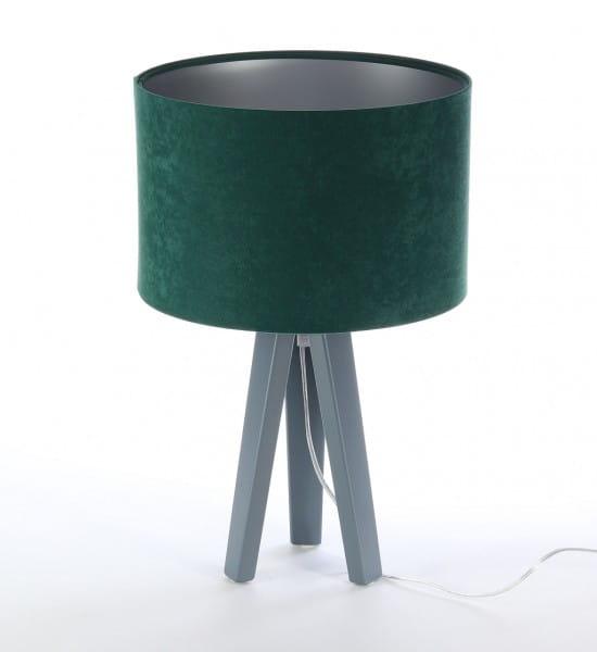 Tischleuchte Karin in grün/silber