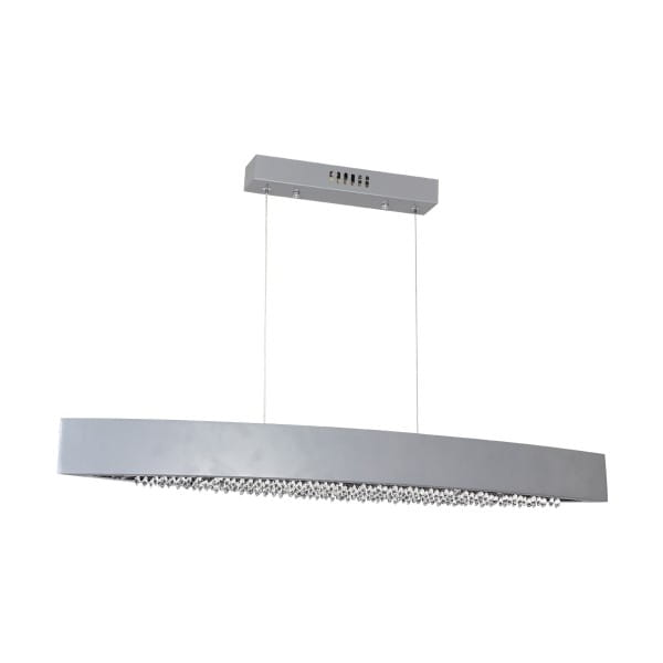 LED Pendleuchte BOCCA silber aus Metall/Kristallen