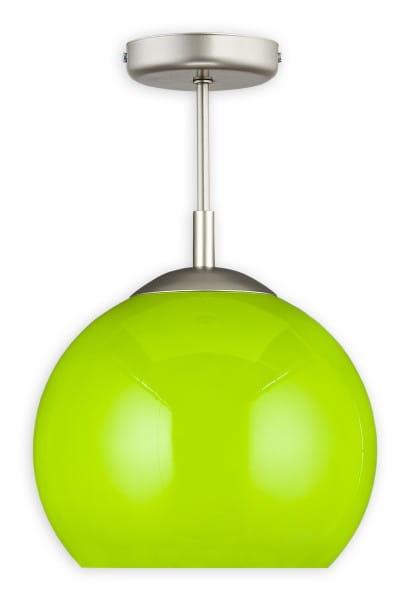 Pendelleuchte Glas grün 1 flammig E27 Kula