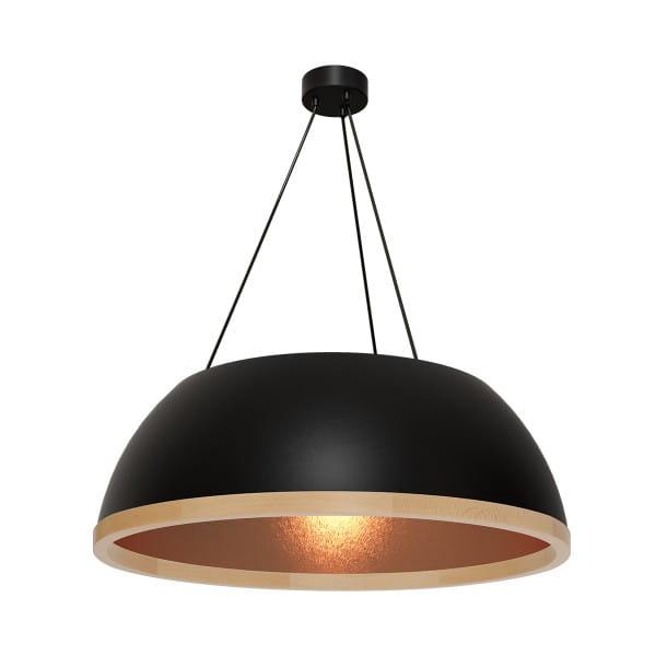Pendelleuchte rosé gold/schwarz MAXIM 60W E27 3-flammig