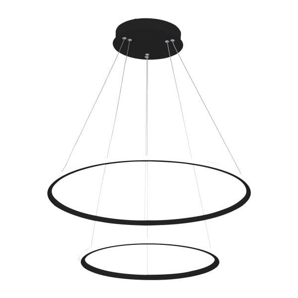 LED Pendelleuchte ORION BLACK EXTERNO Schwarz 53W 3710lm