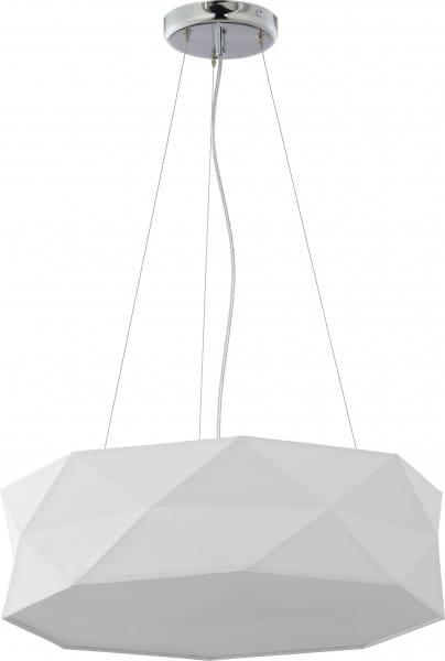 Pendelleuchte Stoff Weiß 52 cm