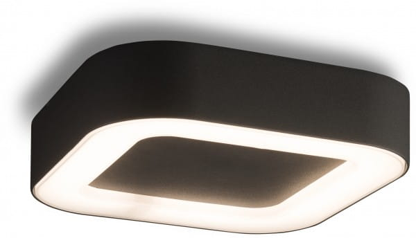 PUEBLA Außendeckenleuchte modern Aluminium/Kunststoff grau Außenleuchte Deckenlampe Außenlampe LED-B