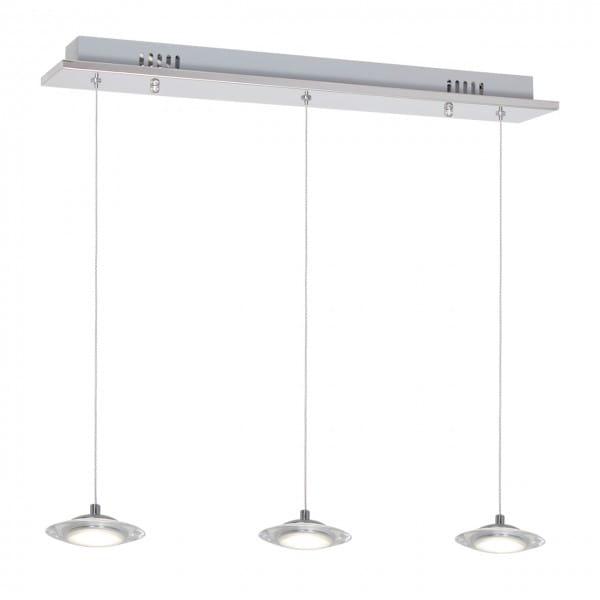 LED Pendleuchte ELLIPSE chrom aus Metall 3-flammig