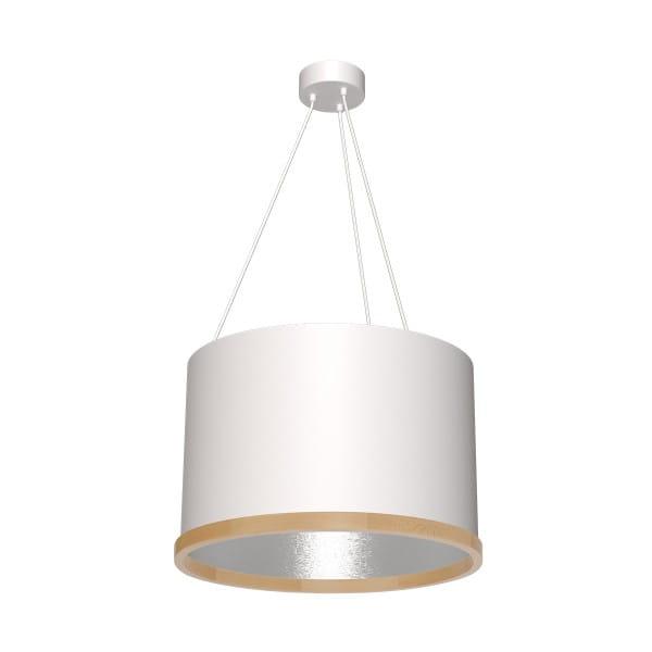 Pendelleuchte OLIVER weiß/grau aus Metall/Holz 50cm