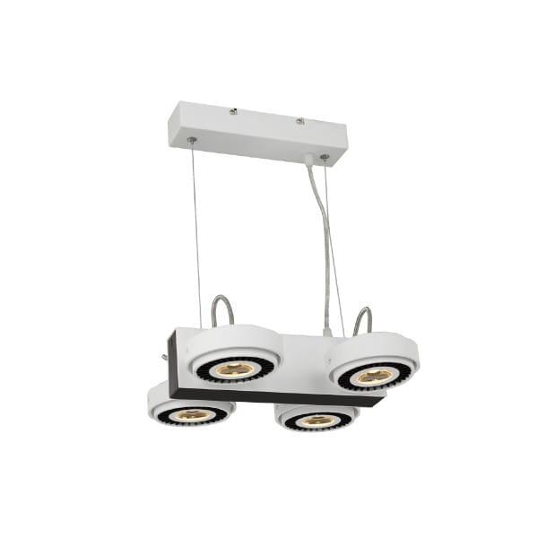 LED Pendelleuchte TECHNO Weiß/Schwarz 40W LED 2800lm