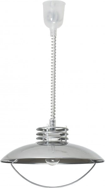 Pendelleuchte modern aus Metall silber UFO E27
