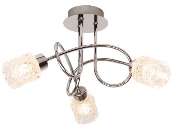 Brenda Deckenleuchte modern Metall/Glas chrom Deckenlampe G9 33W