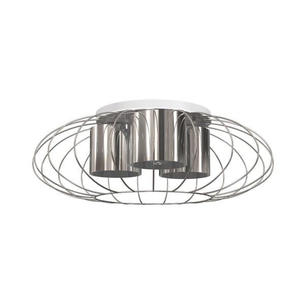 Deckenleuchte CROMO chrom aus Metall/PVC rund