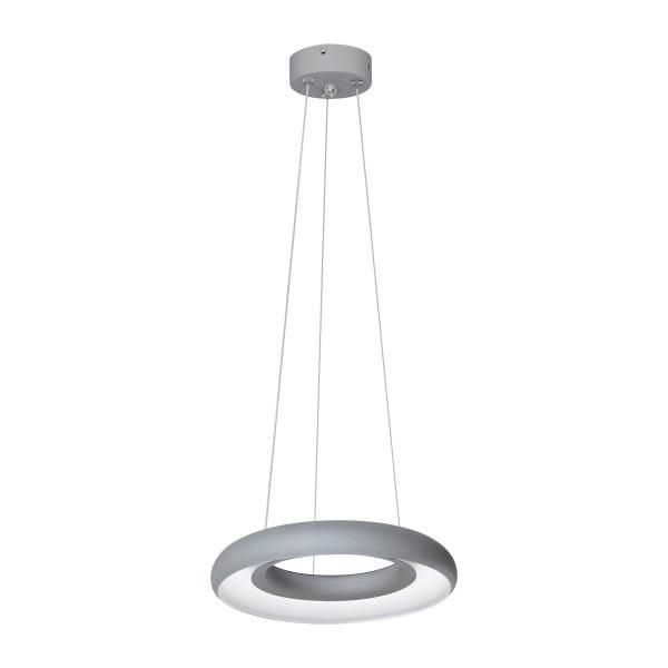 LED Pendelleuchte Grau Ring 12W