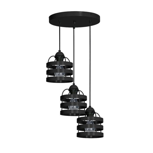 Pendelleuchte LARS BLACK schwarz aus Metall 35cm