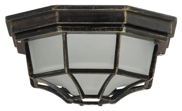 Außendeckenleuchte antikgold E27 100 Watt IP43 Milano